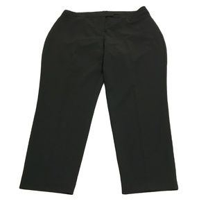 Eloquii Solid Black Ankle Cropped Trouser Pants 18